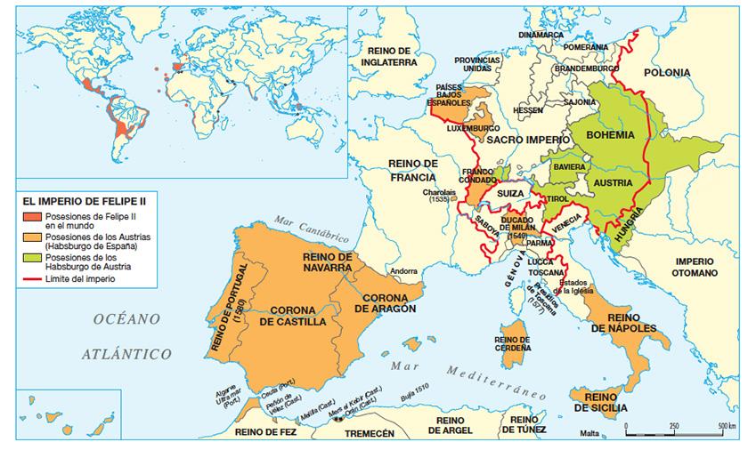 Posesiones de Felipe II - Caminando por la historia